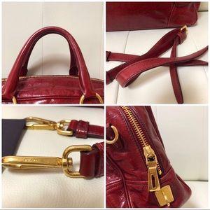 Prada Bags - PRADA VITELLO SHINE RUBINO BL0821 VGUC